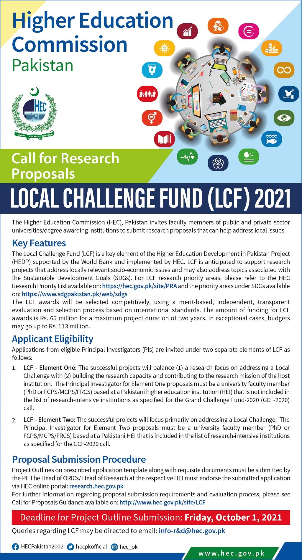Local Challenge Fund (LCF)