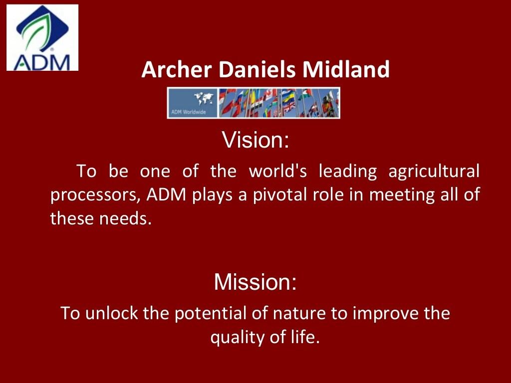 Archer Daniels Midland Company — Corporate Social Investment Program