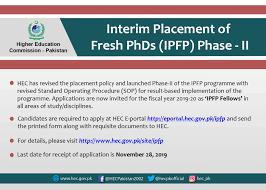 HEC - Interim Placement of Fresh PhDs Program (IPFP)