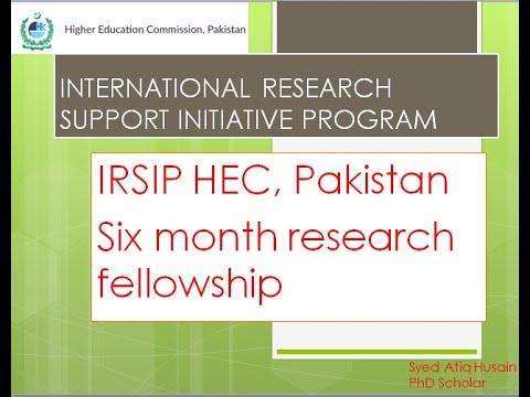 INTERNATIONAL RESEARCH SUPPORT INITIATIVE PROGRAM (HEC)