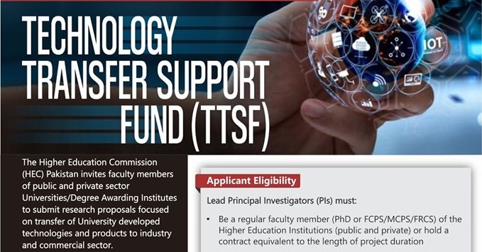 TECHNOLOGY TRANSFER SUPPORT FUND (TTSF)