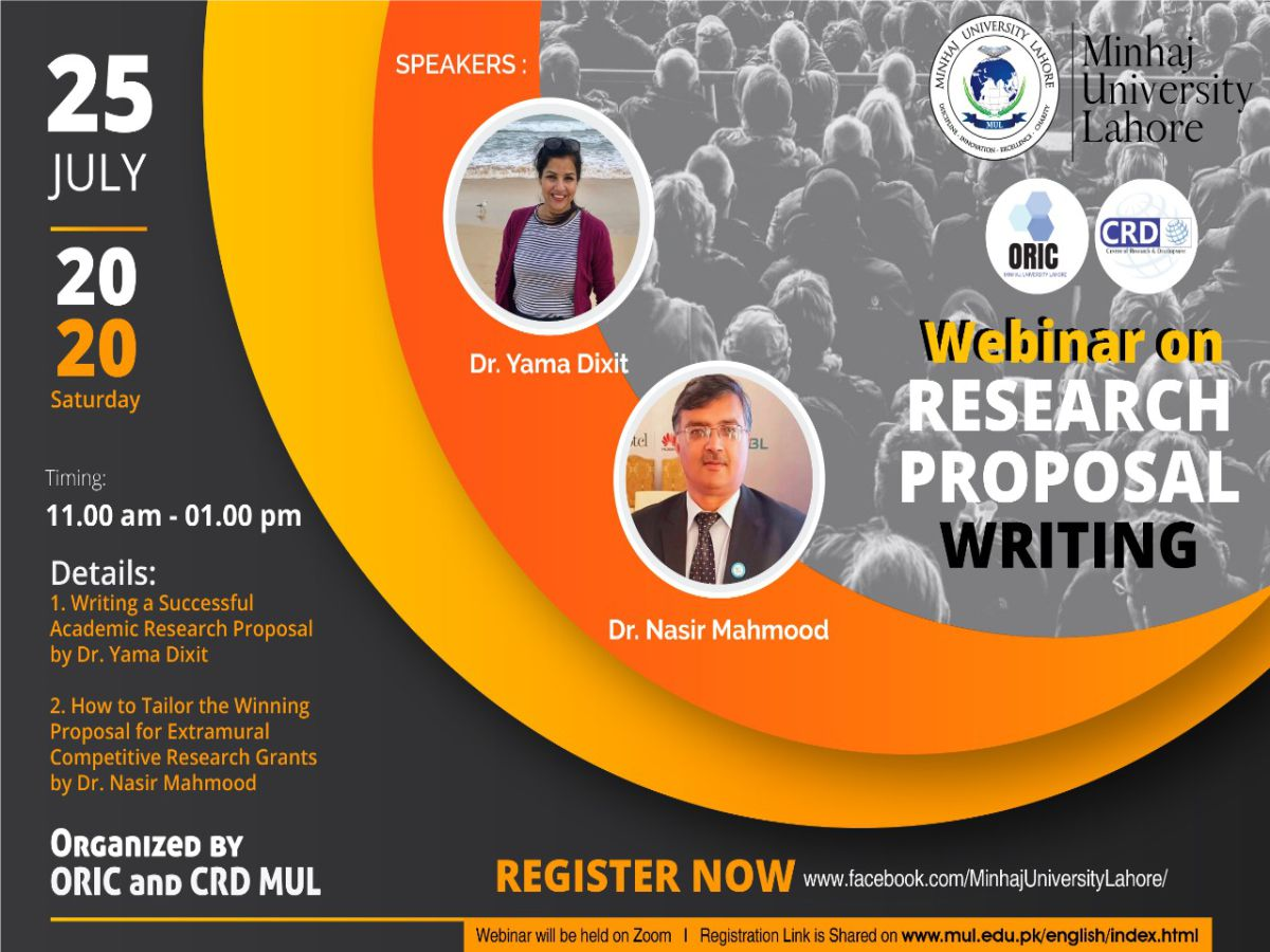 WEBINAR ON GRANT WRITING PROCESS FOR NATIONAL AND INTERNATIONAL FUNDING