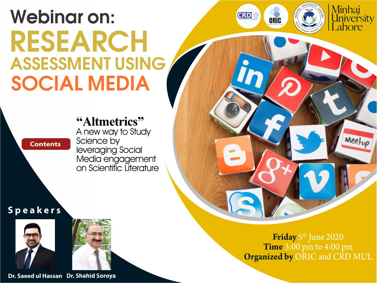 Webinar on Research Assessment using Social Media Contents