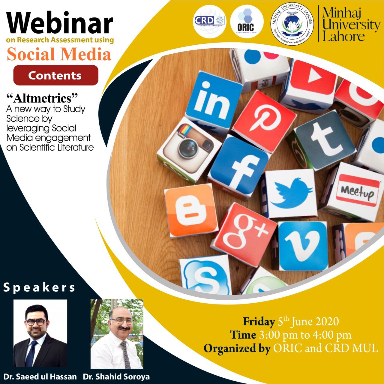 Webinar on Research Assessment Using Social Media